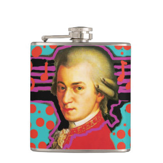 Petaca Frasco de Mozart del arte pop
