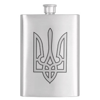 Petaca Frasco de plata ucraniano de la cadera de la