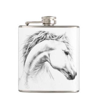 Petaca Frasco del arte del lápiz del retrato del caballo