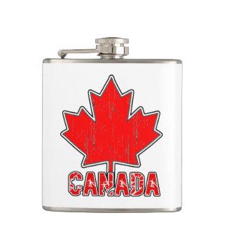 Petaca Frasco del día de Canadá Canadá del vintage