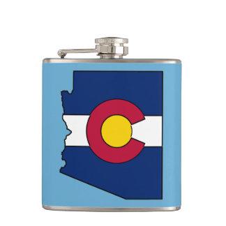 Petaca Frasco del esquema de Arizona de la bandera de