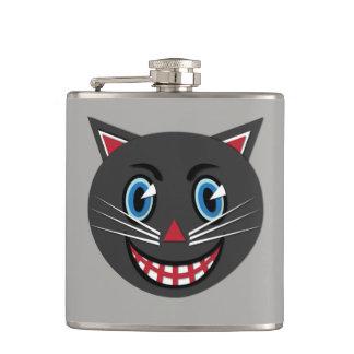 Petaca frasco del gato negro del vintage de los años 30