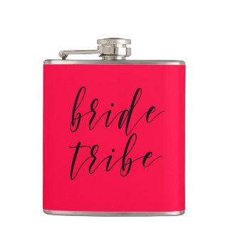 Petaca Frasco del vinilo del boda de la tribu de la novia