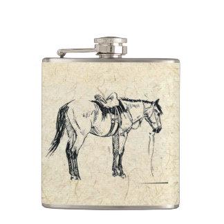 Petaca Frasco ensillado del caballo