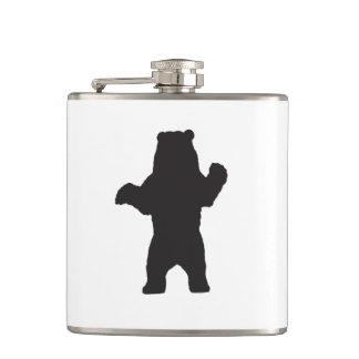 Petaca Frasco envuelto vinilo del oso negro