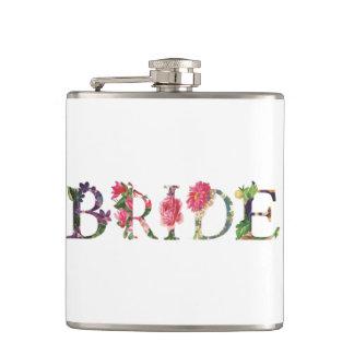 Petaca Frasco envuelto vinilo floral bonito de la novia