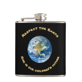 Petaca Frasco futuro de la tierra del planeta del
