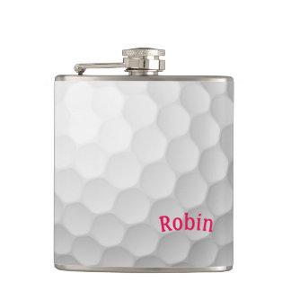 Petaca Frasco temático del golf personalizado para ella