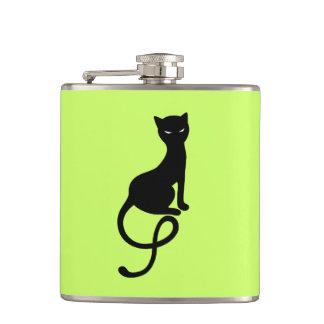 Petaca Gato negro malvado gracioso verde