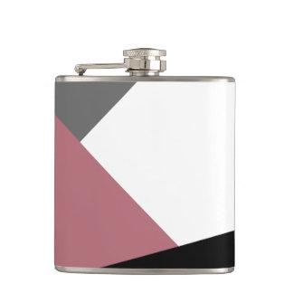 Petaca geometrics rosado, negro, gris polvoriento claro