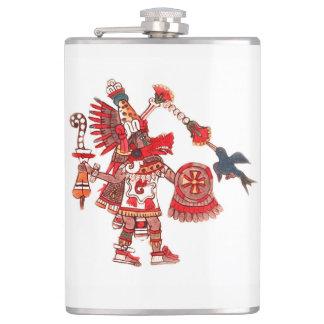 Petaca Guerrero azteca del shaman del baile