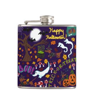 Petaca Halloween del Dachshund de la diva