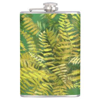 Petaca Helecho, frondas, verdor amarillo de oro floral,