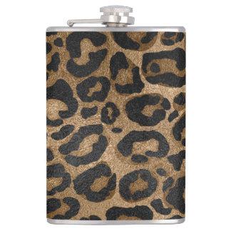 Petaca Impresión de oro y negra de Jaguar del leopardo