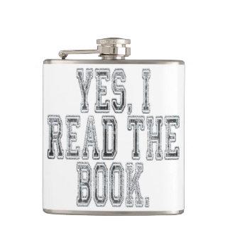 Petaca Leí sí el gris del libro
