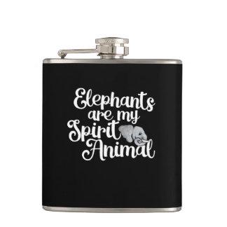 Petaca Los elefantes son mi animal del alcohol