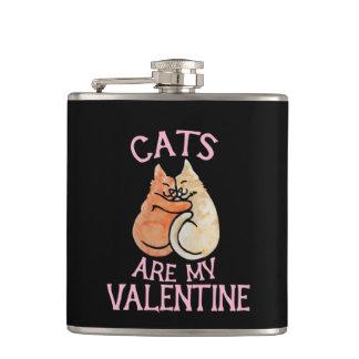 Petaca los gatos son mi día de San Valentín de tarjeta