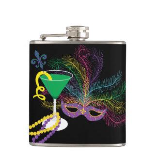 Petaca Máscara del pavo real y carnaval de Martini