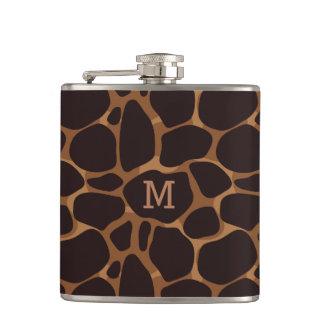 Petaca Modelo abstracto de cobre del leopardo de Brown