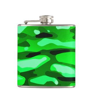 Petaca Modelo abstracto verde de moda de Camo