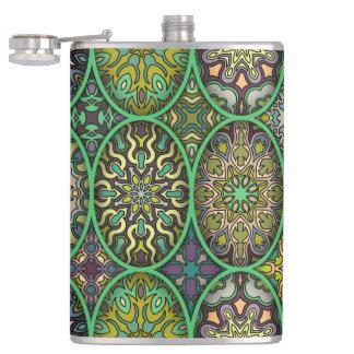 Petaca Modelo floral étnico abstracto colorido de la