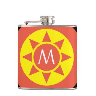 Petaca Monograma rubricado brillo amarillo y anaranjado