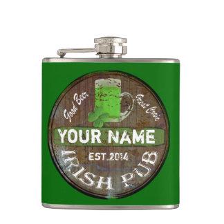 Petaca Muestra irlandesa personalizada del Pub