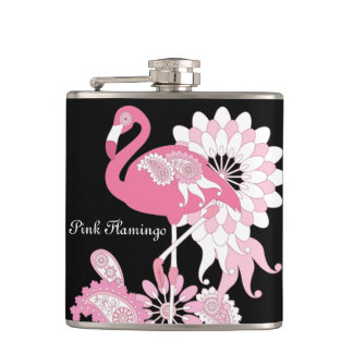 Petaca Negro personalizado lindo femenino del flamenco