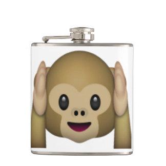 Petaca No oiga ningún mono malvado - Emoji