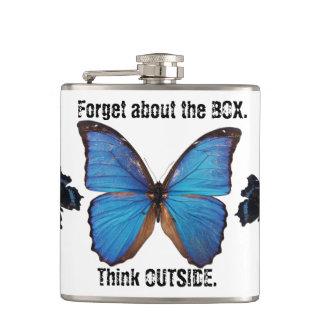 Petaca Olvide que la caja piensa fuera del frasco de la