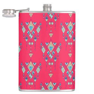Petaca Ornamento azteca tribal étnico del vintage