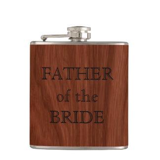 Petaca Padre del banquete de boda rústico de la novia el