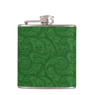 Petaca Paisley verde