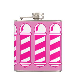 Petaca Peluquero rosado postes