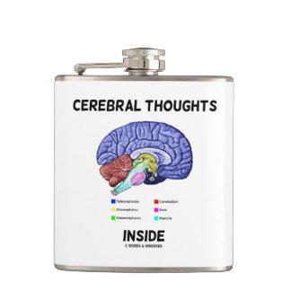 Petaca Pensamientos cerebrales dentro del humor pensativo