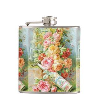 Petaca Perfume del agua de la Florida con los rosas de la