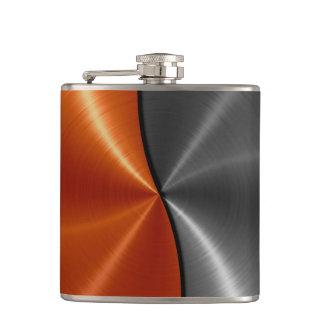 Petaca Plata y metal de acero metálico anaranjado 2