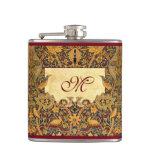 Petaca Pre Raphaelite Wm. MONOGRAMA del PERSONALIZABLE de