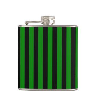 Petaca Rayas finas - negro y verde