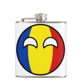 Petaca Rumania Geeky que tiende divertida Countryball