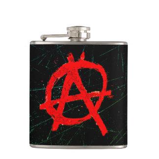 Petaca Símbolo rojo sucio de la anarquía