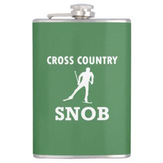 Petaca Snob del esquí del campo a través (logotipo