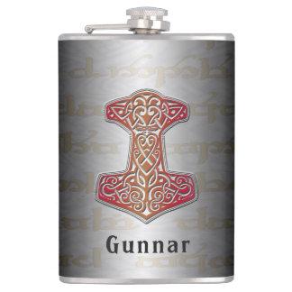 Petaca Su nombre en este frasco rojo de Mjölnir