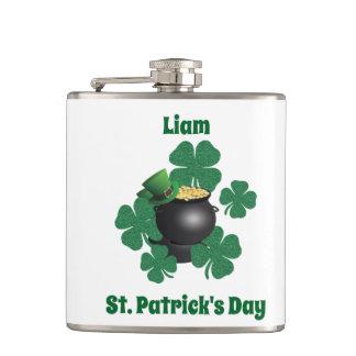 Petaca Suerte del día del St Patrick irlandés