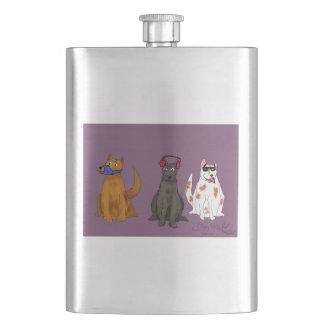 """Petaca """"Tres perros obedecen"""" el frasco clásico"""