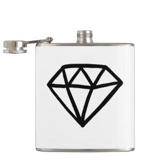 Petaca Versión blanco y negro del diamante