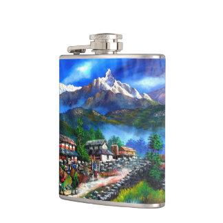 Petaca Vista panorámica de la montaña Nepal de Everest