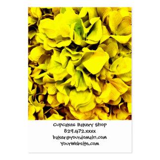 Pétalo amarillo colorido de la flor del Hydrangea Tarjetas De Visita Grandes