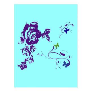 Pétalos púrpuras postal