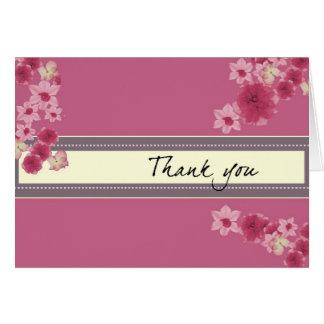 Pétalos rosados bonitos tarjeta pequeña